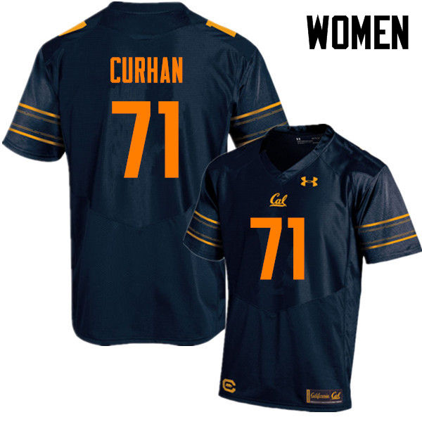Women #71 Jake Curhan Cal Bears (California Golden Bears College) Football Jerseys Sale-Navy
