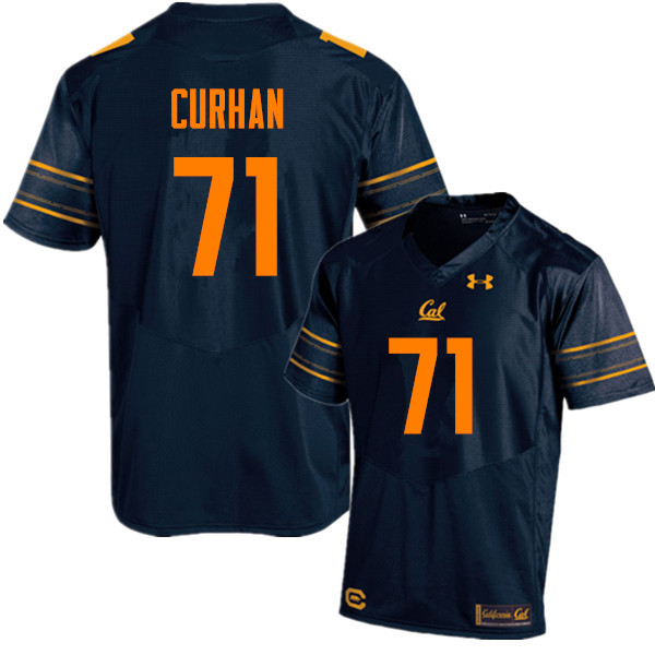 Men #71 Jake Curhan Cal Bears (California Golden Bears College) Football Jerseys Sale-Navy