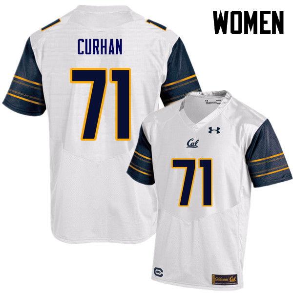Women #71 Jake Curhan Cal Bears (California Golden Bears College) Football Jerseys Sale-White