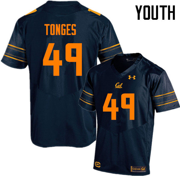 Youth #49 Jake Tonges Cal Bears (California Golden Bears College) Football Jerseys Sale-Navy