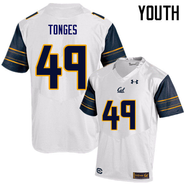 Youth #49 Jake Tonges Cal Bears (California Golden Bears College) Football Jerseys Sale-White
