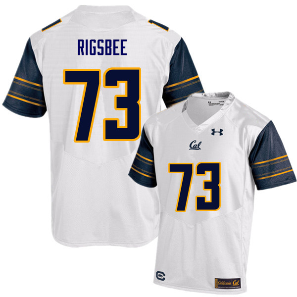 Men #73 Jordan Rigsbee Cal Bears (California Golden Bears College) Football Jerseys Sale-White