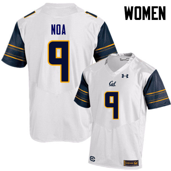 Women #9 Kanawai Noa Cal Bears (California Golden Bears College) Football Jerseys Sale-White