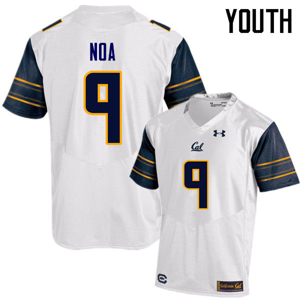 Youth #9 Kanawai Noa Cal Bears (California Golden Bears College) Football Jerseys Sale-White