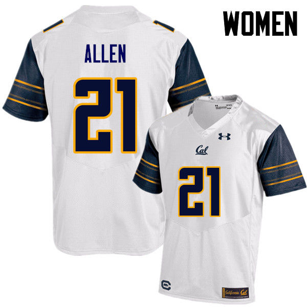 Women #21 Keenan Allen Cal Bears (California Golden Bears College) Football Jerseys Sale-White
