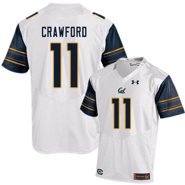Men #11 Kekoa Crawford Cal Bears UA College Football Jerseys Sale-White