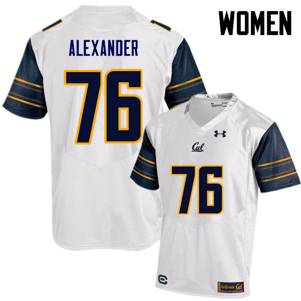 Women #76 Lorenzo Alexander Cal Bears (California Golden Bears College) Football Jerseys Sale-White