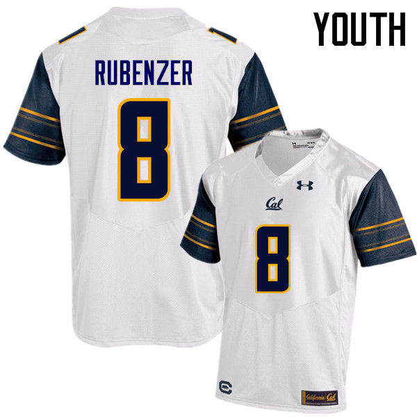 Youth #8 Luke Rubenzer Cal Bears (California Golden Bears College) Football Jerseys Sale-White