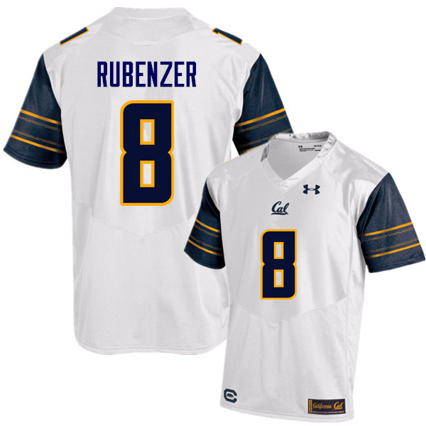 Men #8 Luke Rubenzer Cal Bears (California Golden Bears College) Football Jerseys Sale-White