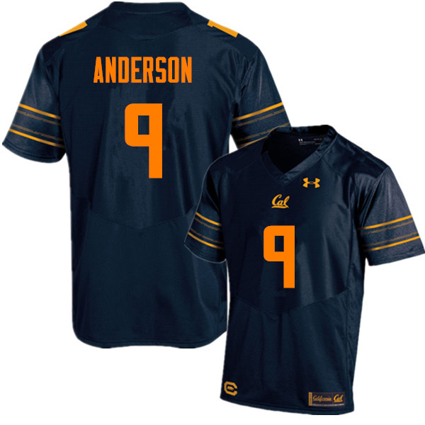 Men #9 Matt Anderson Cal Bears (California Golden Bears College) Football Jerseys Sale-Navy