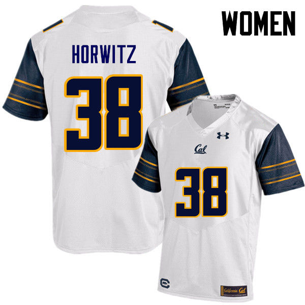 Women #38 Matt Horwitz Cal Bears (California Golden Bears College) Football Jerseys Sale-White