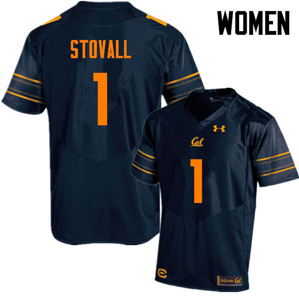 Women #1 Melquise Stovall Cal Bears (California Golden Bears College) Football Jerseys Sale-Navy