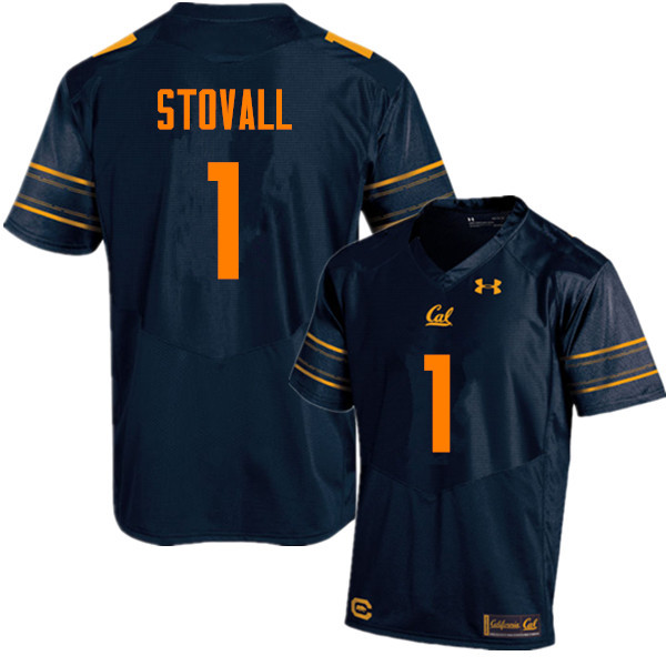 Men #1 Melquise Stovall Cal Bears (California Golden Bears College) Football Jerseys Sale-Navy