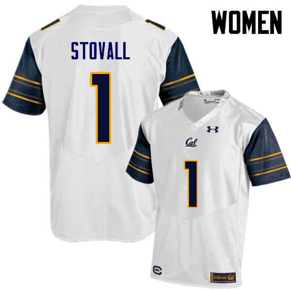 Women #1 Melquise Stovall Cal Bears (California Golden Bears College) Football Jerseys Sale-White