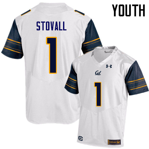 Youth #1 Melquise Stovall Cal Bears (California Golden Bears College) Football Jerseys Sale-White