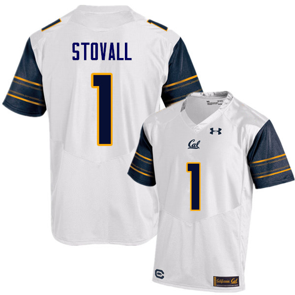 Men #1 Melquise Stovall Cal Bears (California Golden Bears College) Football Jerseys Sale-White