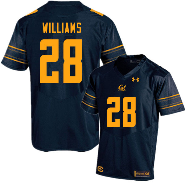Men #28 Miles Williams Cal Bears UA College Football Jerseys Sale-Navy