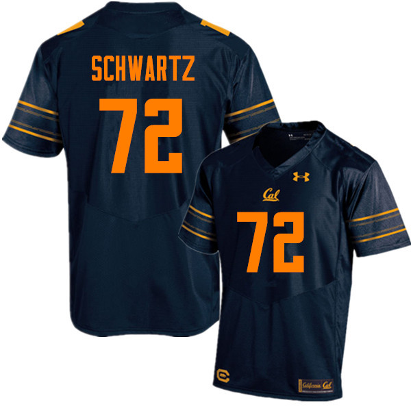 Men #72 Mitchell Schwartz Cal Bears (California Golden Bears College) Football Jerseys Sale-Navy