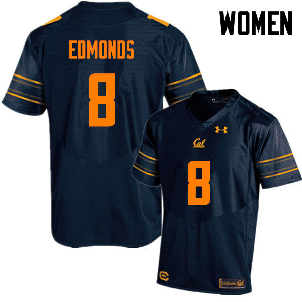 Women #8 Nygel Edmonds Cal Bears (California Golden Bears College) Football Jerseys Sale-Navy