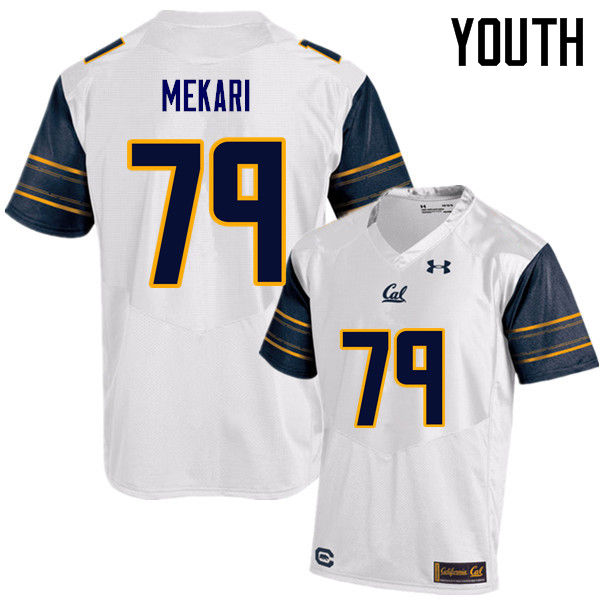 Youth #79 Patrick Mekari Cal Bears (California Golden Bears College) Football Jerseys Sale-White