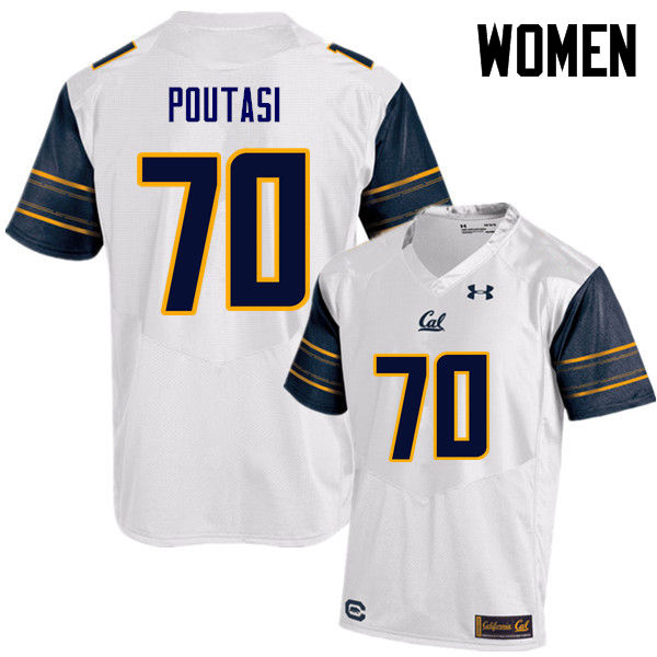 Women #70 Poutasi Poutasi Cal Bears (California Golden Bears College) Football Jerseys Sale-White