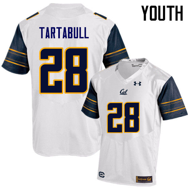 Youth #28 Quentin Tartabull Cal Bears (California Golden Bears College) Football Jerseys Sale-White