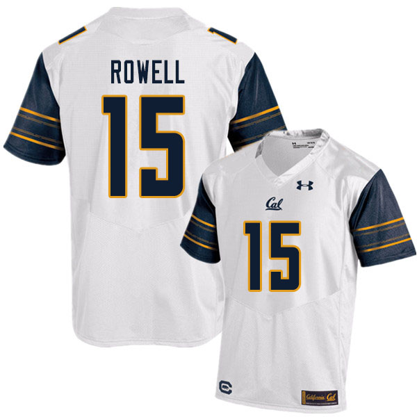 Men #15 Robby Rowell Cal Bears UA College Football Jerseys Sale-White