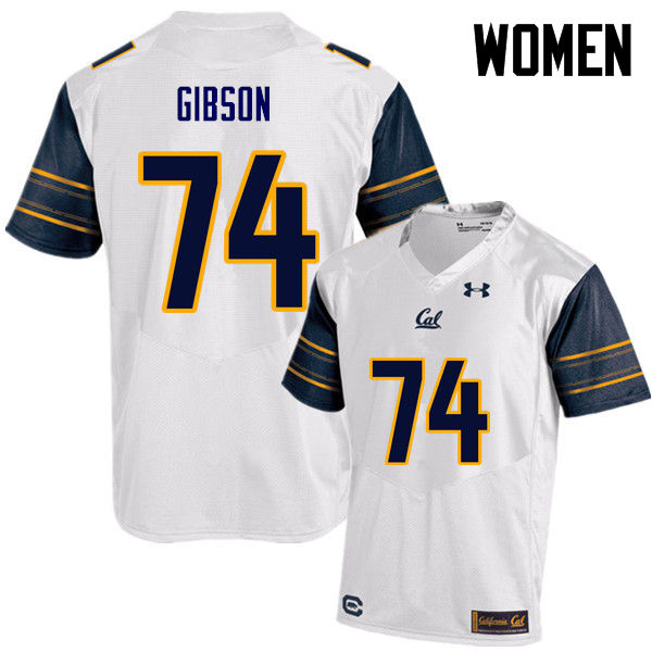 Women #74 Ryan Gibson Cal Bears (California Golden Bears College) Football Jerseys Sale-White