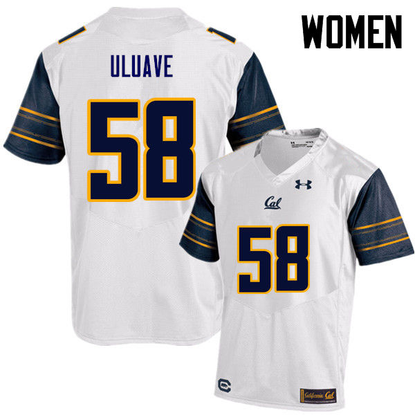 Women #58 Semisi Uluave Cal Bears (California Golden Bears College) Football Jerseys Sale-White