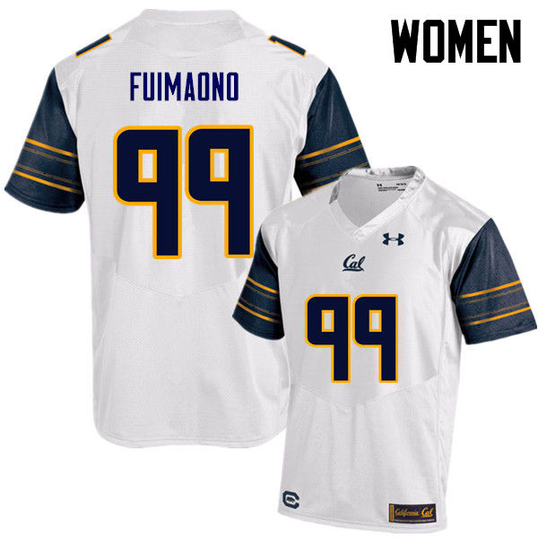Women #99 Siulagisipai Fuimaono Cal Bears (California Golden Bears College) Football Jerseys Sale-Wh