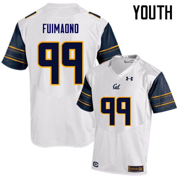 Youth #99 Siulagisipai Fuimaono Cal Bears (California Golden Bears College) Football Jerseys Sale-Wh