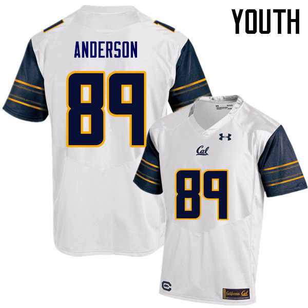 Youth #89 Stephen Anderson Cal Bears (California Golden Bears College) Football Jerseys Sale-White