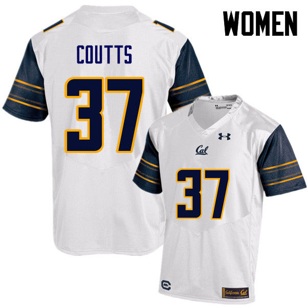 Women #37 Steven Coutts Cal Bears (California Golden Bears College) Football Jerseys Sale-White