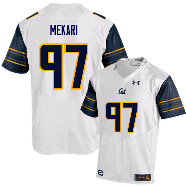 Men #97 Tony Mekari Cal Bears (California Golden Bears College) Football Jerseys Sale-White