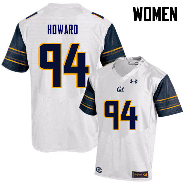 Women #94 Trevor Howard Cal Bears (California Golden Bears College) Football Jerseys Sale-White
