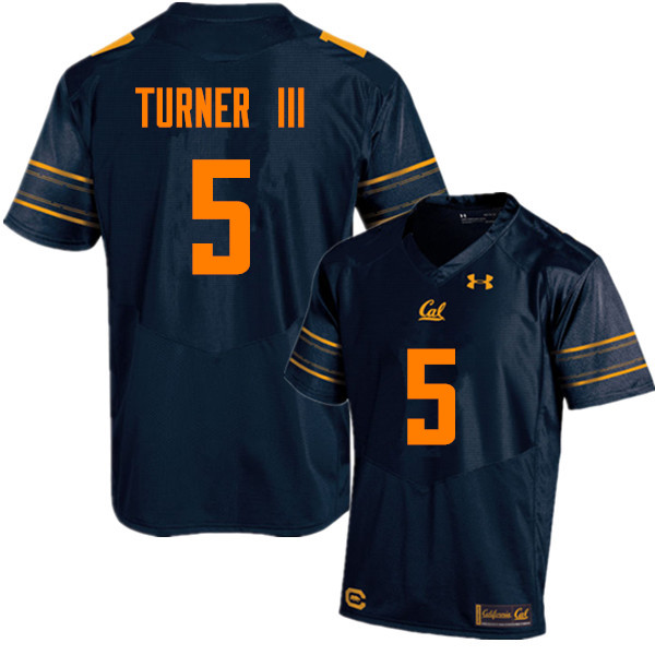 Men #5 Trey Turner III Cal Bears (California Golden Bears College) Football Jerseys Sale-Navy