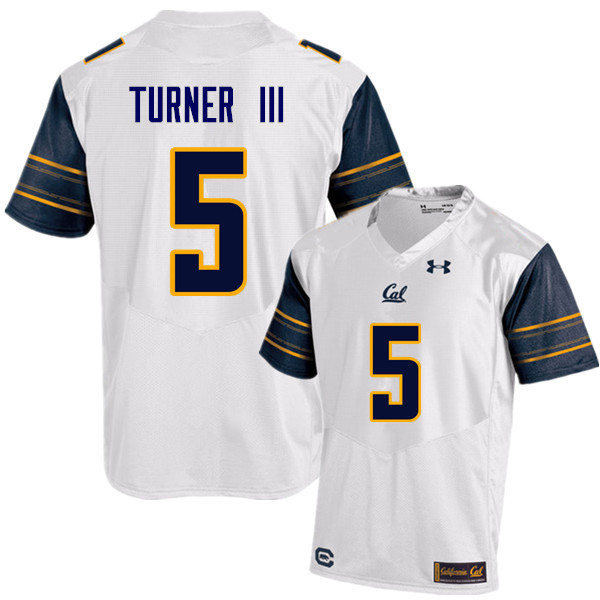 Men #5 Trey Turner III Cal Bears (California Golden Bears College) Football Jerseys Sale-White