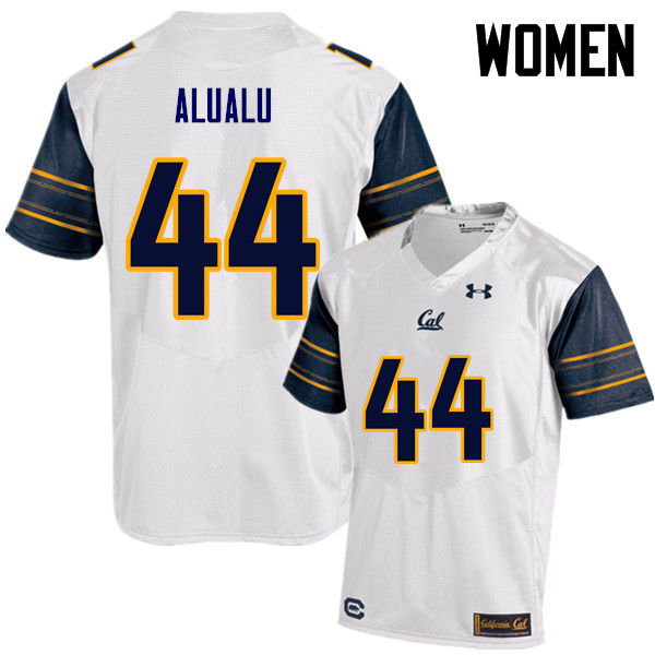 Women #44 Tyson Alualu Cal Bears (California Golden Bears College) Football Jerseys Sale-White
