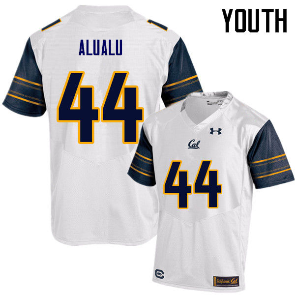 Youth #44 Tyson Alualu Cal Bears (California Golden Bears College) Football Jerseys Sale-White