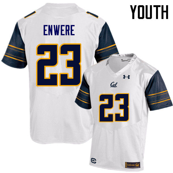 Youth #23 Vic Enwere Cal Bears (California Golden Bears College) Football Jerseys Sale-White