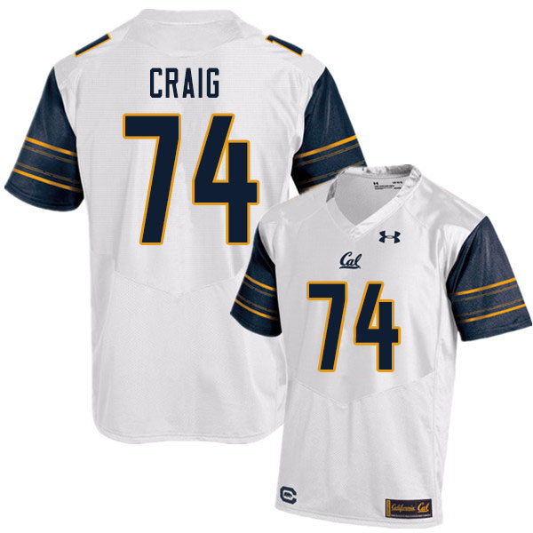 Men #74 Will Craig Cal Bears UA College Football Jerseys Sale-White