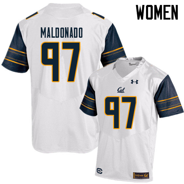 Women #97 Aaron Maldonado Cal Bears UA College Football Jerseys Sale-White