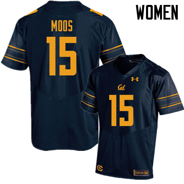 Women #15 Ben Moos Cal Bears UA College Football Jerseys Sale-Navy