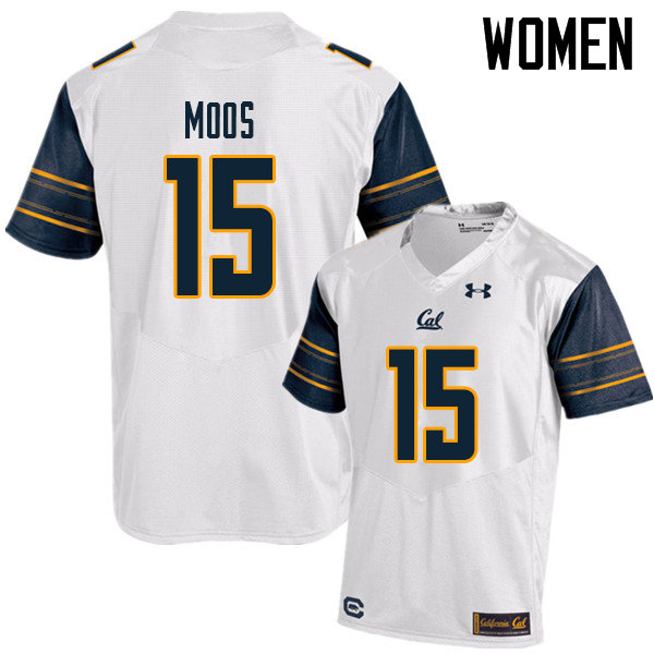 Women #15 Ben Moos Cal Bears UA College Football Jerseys Sale-White