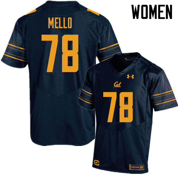 Women #78 Brandon Mello Cal Bears UA College Football Jerseys Sale-Navy