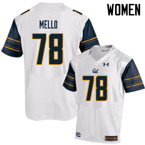 Women #78 Brandon Mello Cal Bears UA College Football Jerseys Sale-White