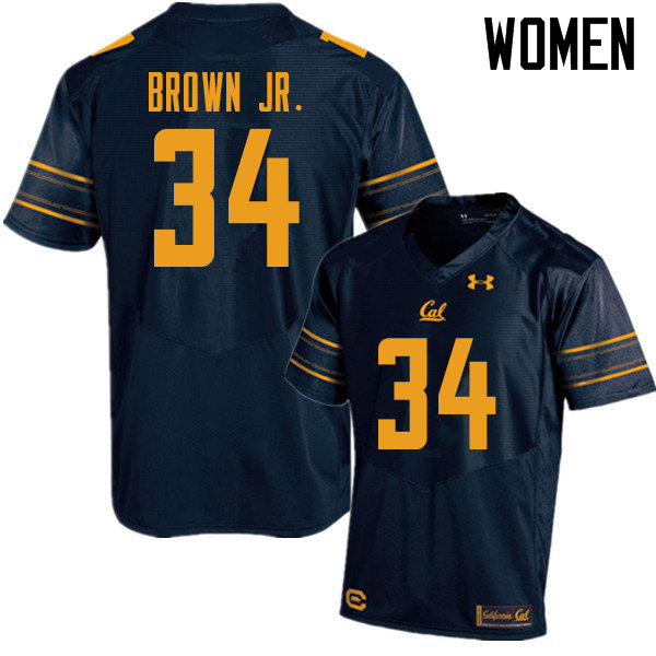 Women #34 Christopher Brown Jr. Cal Bears UA College Football Jerseys Sale-Navy