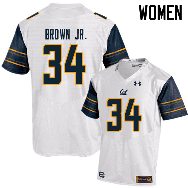 Women #34 Christopher Brown Jr. Cal Bears UA College Football Jerseys Sale-White