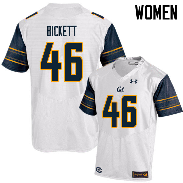 Women #46 Louie Bickett Cal Bears UA College Football Jerseys Sale-White