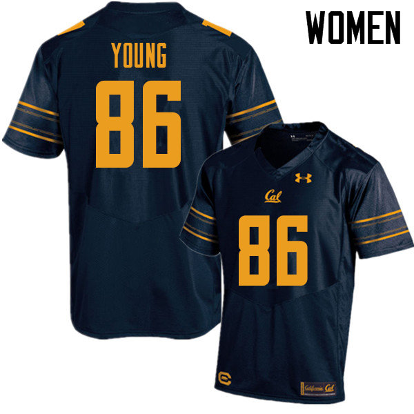 Women #86 Monroe Young Cal Bears UA College Football Jerseys Sale-Navy
